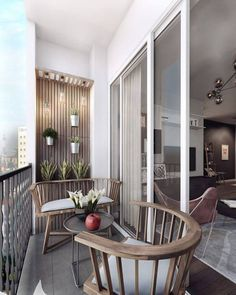 Another comfortable balcony design. Pretty good use of the limited space. - Sapir Sivan - Kleiner Balkon - Another comfortable balcony design. Pretty good use of the limited space. Narrow Balcony, Small Balcony Design, Small Balcony Decor, Outdoor Balcony, Outdoor Spaces, Balcony Ideas, Small Patio, Patio Ideas, Balcony Grill