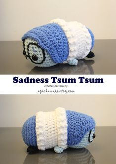 PATTERN 2-PACK: Joy and Sadness Tsum Tsum Crochet por epickawaii