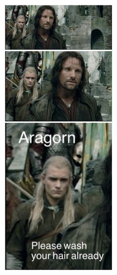 I'm watching The Two Towers when I spot Legolas trolling again. Lol | Lord of the Rings | Humor | Funny