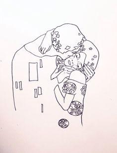 gustav klimt; the kiss.