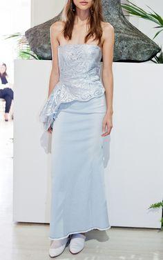 Lace Bustier by CARLA ZAMPATTI for Preorder on Moda Operandi