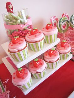 This blog has great Strawberry Shortcake theme party ideas!