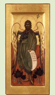 Ikon, Byzantine Art, John The Baptist, Frame, Painting, Saints, Dibujo, Picture Frame, Painting Art