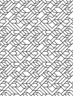 V1 line pattern by David Matthew Parker. Blackwork inspiration?