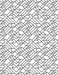 V1 line pattern by David Matthew Parker. Blackwork inspiration?