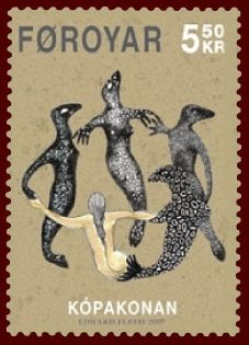Faroese Stamp of the Selkie myth, from Scottish Love ballads by Carolyn Emerick's The Archivist's Corner http://www.carolynemerick.com/2/post/2014/02/scottish-love-ballads.html