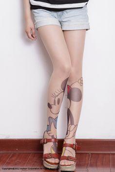 Disney tattoo stocking Miny Mouse.