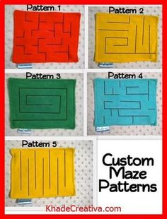 Marble Maze patterns for quiet book pages Sewing Basics, Sewing Hacks, Sewing Crafts, Sewing Projects, Diy Projects, Felt Books, Quiet Books, Diy Fidget Toys, Couture Bb