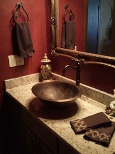 Bathroom Red half baths full of style | small bathroom, bald hairstyles and walls