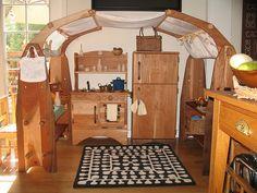 Kitchen, wooden toys