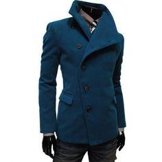 Long Sleeves Woolen Coat For Men