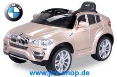 Quad, Buggy, Bikes, Trikes,Kinderquadbahn,  Eventartikel und mehr - Elektroauto BMW X6 Lizenziert - Lackiert, Ledersitz, Dashboard - 2 x 45 Watt Motor