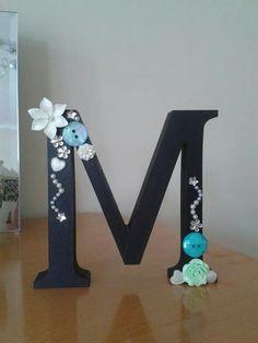 Mdf embellished initial