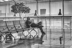 Man sleeping in Tenerife airport Scott Cooper Photography www.scottcooperphotography.co.uk Canary Islands, Tenerife, Portrait Photography, Spain, Photos, Painting, Art, Art Background, Pictures