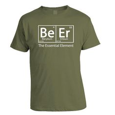 Beer  The Essential Element   Green St Patricks by brewershirts, $16.99