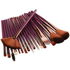 Vcenty Makeup Brush Set Tools Toiletry Kit Wool Make Up Brush Set New 18 Pcs (purple) >>> To view further for this item, visit the image link. (This is an affiliate link and I receive a commission for the sales)