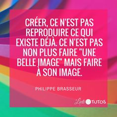 """Créer, ce n'est pas reproduire ce qui existe déjà. Ce n'est pas non plus faire… Image Fb, Keep Looking Up, Quote Citation, Keep Calm Quotes, Lifestyle Quotes, Entrepreneur Quotes, Funny Facts, Beautiful Words, Best Quotes"
