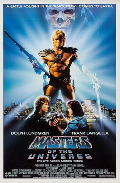 Watch Masters of the Universe full hd online Directed by Gary Goddard. With Dolph Lundgren, Frank Langella, Meg Foster, Billy Barty. The heroic warrior He-Man battles against the evil lord Sk 80s Movie Posters, 80s Movies, Original Movie Posters, Cult Movies, Good Movies, Movie Tv, Creepy Movies, Greatest Movies, Comic Movies