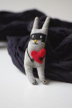 Bunny bandit. Now all you need is your cape :)