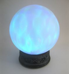 Lightshow Magic ORB Crystal Ball Witch Haunted House Halloween Party Prop 8"