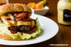 Receta para preparar hamburguesas caseras. Con fotografías, consejos y sugerencias de degustación. Recetas de carnes y comida rápida hecha en casa