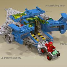 Awesome Lego, Cool Lego, Lego Words, Lego Space Sets, Lego Spaceship, Lego Mechs, Lego Stuff, Lego Technic, Lego Ideas