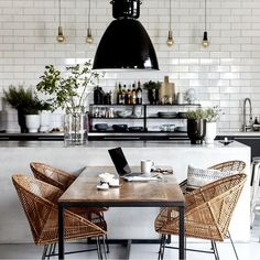 Inspiring Modern Dining Room Design Ideas - Page 46 of 98 - Chessy Decor House Doctor, Home Decor Kitchen, Kitchen Interior, Kitchen Ideas, Kitchen Designs, Cafe Interior, Room Interior, Elegant Living Room, Dining Room Inspiration
