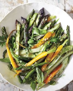 Steamed Vegetable Salad with Macadamia Dressing {substitute honey with favourite vegan sweetener} | Whole Living