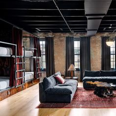 American firm Un.Box Studio has transformed historic structures in Austin into a high-design hostel that is meant to serve as an alternative to pricey boutique hotels.