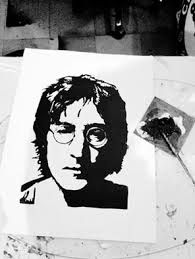 customized John Lennon painting. #acrylic