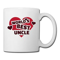 Worlds Best Uncle Coffee Mug Water Cup Drinking Cup Beer Mug Milk Cup Tea Cup Restaurant Cups Ceramic Mug Morning Cup White *** Click image for more details.(This is an Amazon affiliate link and I receive a commission for the sales)