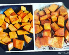 #paleo #butternutsquash #kosher #glutenfree #glutenfreevegan #sidedish #healthy #easyrecipe Sauté 1/4 cup balsamic vinegar and a tablespoon of coconut palm sugar until bubbling.  Add 1/4 cup evoo or clarified butter or olive oil a teaspoon of salt and add 3 cups cut squash. Stir frequently allow to absorb.  Put in dish @ 350 for about 20 or 30 minutes.  by shalvatnafshi
