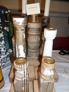 Baluster candle holders - nice!