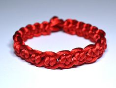 Red Chinese Knot BraceletMade to order by CHENS on Etsy, $8.00