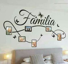 A nice design of a wall decal for the decoration of your living room or bedroom. Brilliant family wall art sticker for your home.