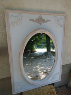 Miroir style shabby chic campagne : Décorations murales par les-intemporels Style Shabby Chic, Diy Mirror, Decoration, Oversized Mirror, Vintage, Home Decor, Wall Decorations, Rural Area, Ornament