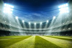 Lights at night and football stadium rendering Premium Photo New Background Images, Metal Background, Geometric Background, Watercolor Background, Princesa Disney Jasmine, Extreme Photography, 3d Geometric Shapes, Football Wallpaper, Football Stadiums
