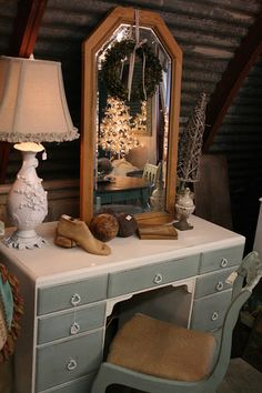 For my new vanity! (maybe a bluer blue for the drawerrs)- PERFECT!  Loot: Chalk Paint® Gallery