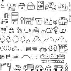 手描きの地図素材のイラスト素材(No.16916110)。写真素材・イラスト販売のPIXTA(ピクスタ)では3,870万点以上の高品質・低価格のロイヤリティフリー画像素材が648円から購入可能です。毎週更新の無料素材も配布しています。 Bullet Journal Notes, Bullet Journal Printables, Bullet Journal Ideas Pages, Kawaii Doodles, Cute Doodles, Doodle Drawings, Easy Drawings, Doodle Characters, Japanese Drawings