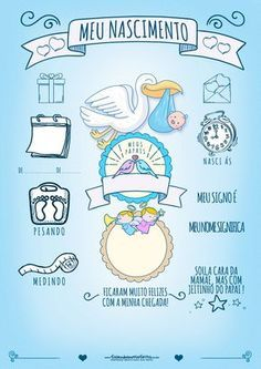 to Menina Gratis Baby Boy Shower, Baby Shower Gifts, Scrapbook Bebe, Baby Posters, Foto Baby, Baby Born, Baby Cards, Kids And Parenting, Baby Photos