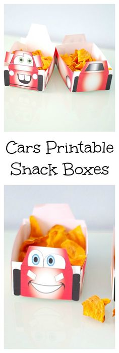 Cars Printable Snack Boxes