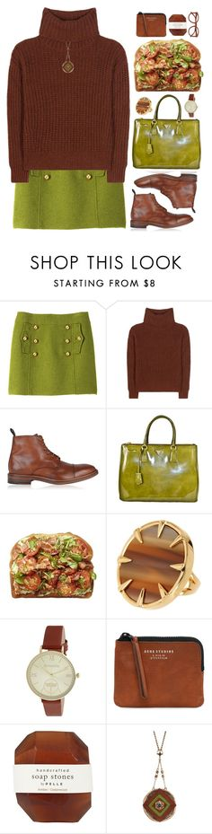 """""""Olive"""" by doga1 ❤ liked on Polyvore featuring Milly, Loro Piana, Paul Smith, Prada, Vince Camuto, Accessorize, Acne Studios, Pelle and The Sak"""