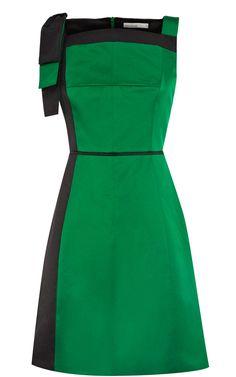 Karen Millen Fun Cotton Dress Green - Karen Millen Outlet - $84.66