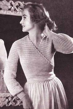 Ladies Wrap Style Bed Jacket Daisy Stitch 1940's Vintage Crochet Pattern by VintagePatternDesign on Etsy https://www.etsy.com/listing/192939651/ladies-wrap-style-bed-jacket-daisy