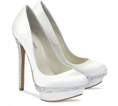 De la nota: Zapatos de novia 2014 con plataformas  Leer mas: http://www.hispabodas.com/notas/2378-zapatos-de-novia-2014-con-plataformas