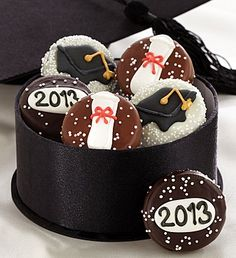 Congratulations Graduate Chocolate Dipped Oreos at com Graduation Cookies, Graduation Gifts, College Graduation, Graduation Ideas, Graduation Parties, Happy Hour Party, Graduation Flowers, Chocolate Dipped Oreos, Gourmet Gift Baskets