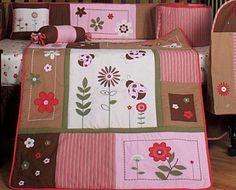 ladybug cribset...Keith likes the pink and brown