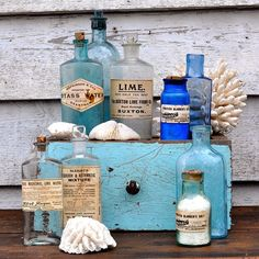 The ice cold day has left us feeling a bit blue #Homebarn  #vintage #glass  http://www.homebarnshop.co.uk/product-category/view-all-vintage-reclaimed-furniture-homeware/