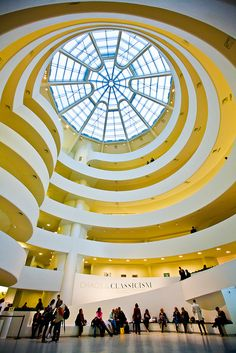 The Solomon R. Guggenheim Museum, often referred to as The Guggenheim. Location: 1071 Fifth Avenue on the corner of East 89th Street in the Upper East Side neighborhood of Manhattan, New York City