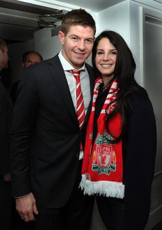 Lana Del Rey was at Anfield for Liverpool's thrilling 3-2 win over Tottenham - and she even got to meet the match-winner Steven Gerrard